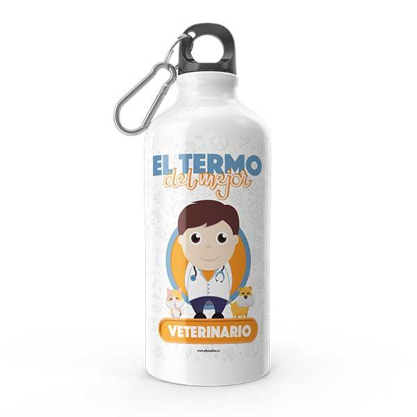 Termo de agua con diseño de veterinario