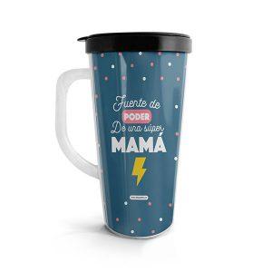 Vaso para bebidas calientes con diseño para madres