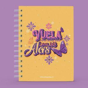 Cuaderno con diseño de mariposas